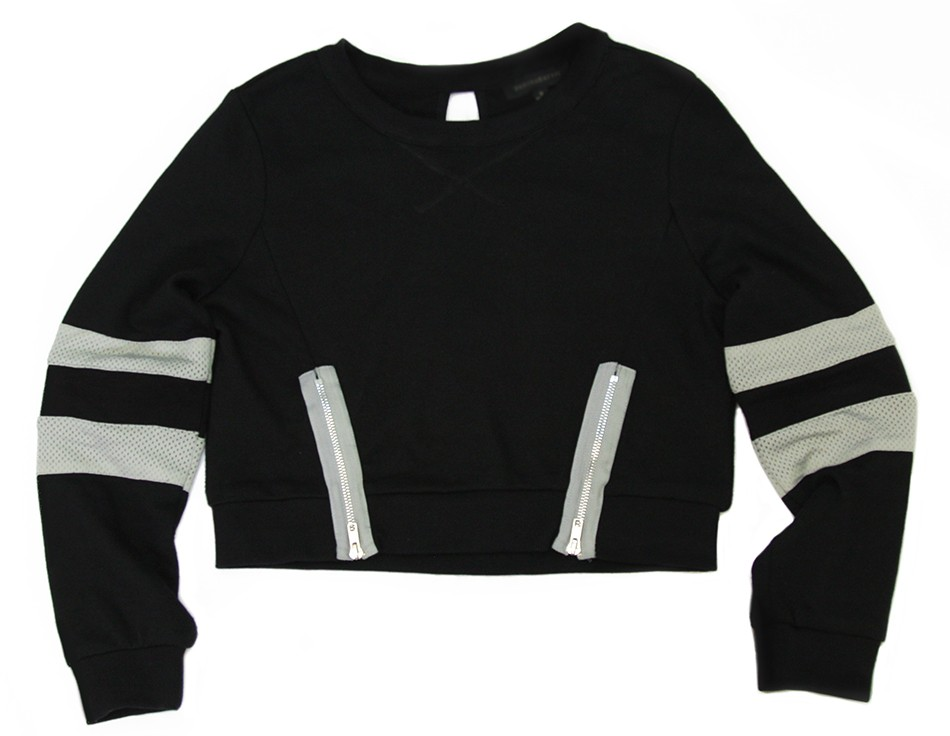Sporty Chic Sweatshirt - Black