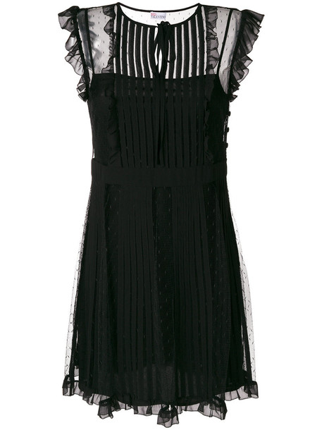 RED VALENTINO dress pleated women black
