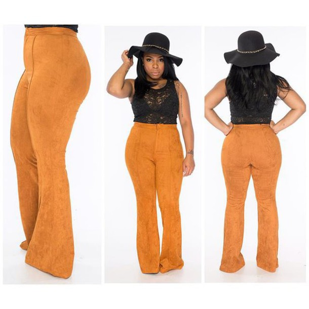 Pants: wide-leg pants, bell bottoms, suede pants, nastygal ...