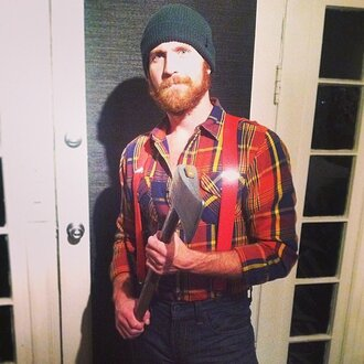 lumberjack beanie flannel flannel shirt menswear hipster menswear halloween