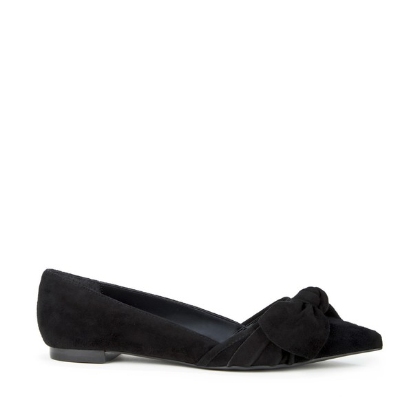 Sole Society Cosette Knot Pointed Toe Flat - Black-6