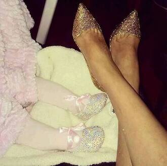 shoes glitter glitter shoes glitter heel shoes heels gold gold sequins