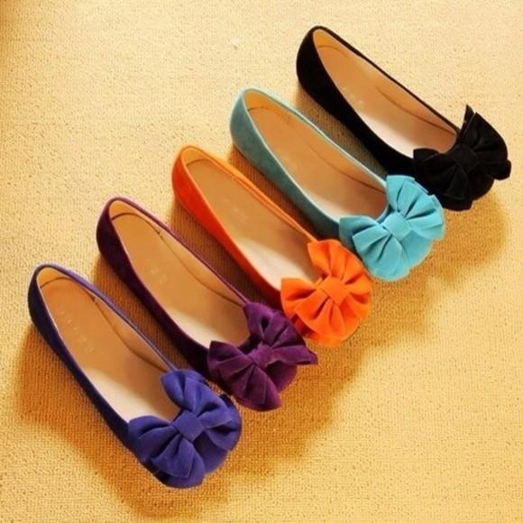 shoes flats big bow ballet flats ballerina flat shoes