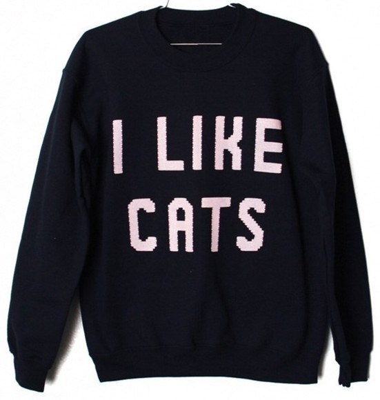 cats sweater i like cats
