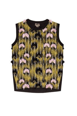 top sleeveless top sleeveless embroidered multicolor