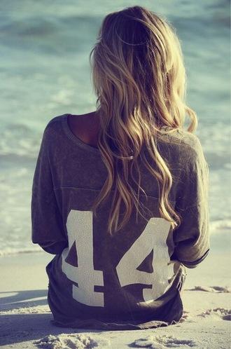 sweater 44 brown blonde hair beach top t-shirt oversized oversized sweater relaxed elegant boho boho shirt girly woman
