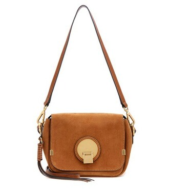 bag shoulder bag suede brown