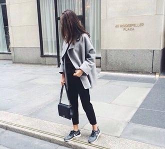 coat grey fashion beautiful greycoat mantel women