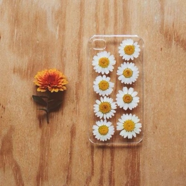 Case Design clear phone case diy : ... flowers phone cover phone cover iphone 5 case clear daisy iphone case