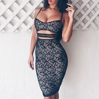 dress outfit made matching set bodycon dress party dress clubwear lace dress tumblr outfit tumblr kylie jenner black dress
