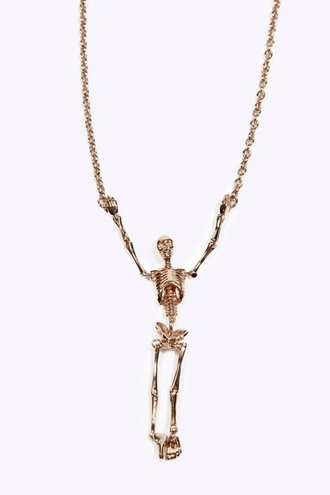 jewels necklace skeleton bones