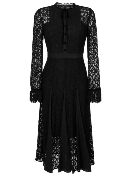 Temperley London dress lace dress women lace cotton black