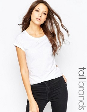 New Look Tall Round Neck Boyfriend T-Shirt at asos.com