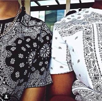shirt urban bandana tee black t-shirt
