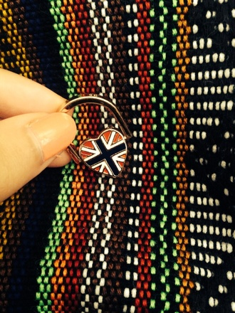 gold jewels union jack british ring
