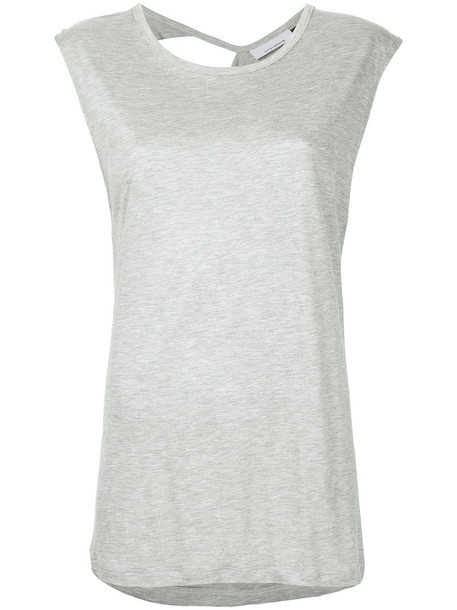 top women spandex grey