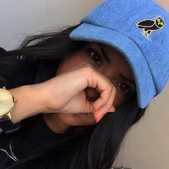 hat owl black gold ovoxo