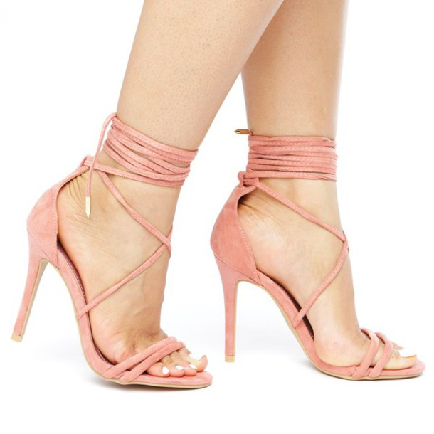 7de6f5018646 shoes heels pink blush pink shoes pink shoes pink heels blush pink heels  lace up lace