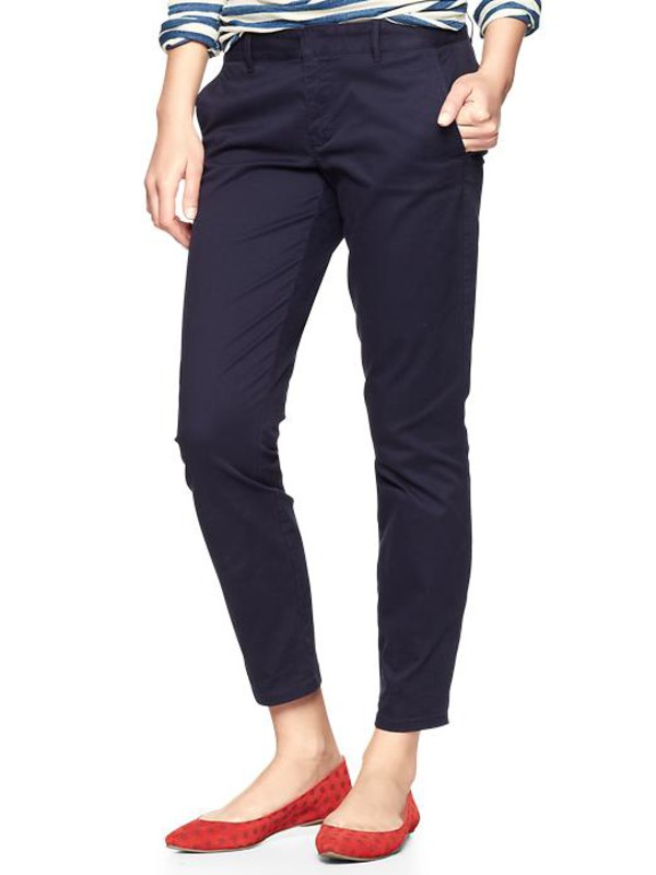 gap skinny mini skimmer khakis navy womens khakis 352657000 belt