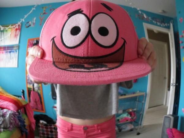 f939dbb73cb69b Patrick Nickelodeon Cartoon Snapback Cap pink classic men & women's ...