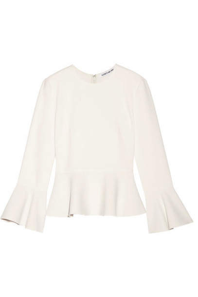 Elizabeth and James top peplum top white off-white