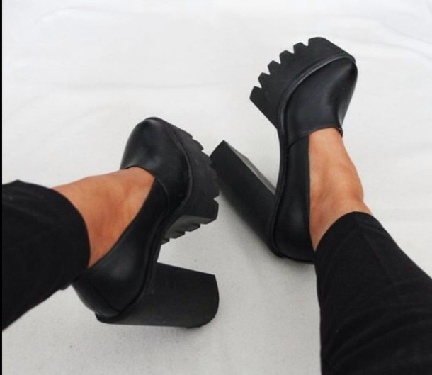 1e77a109c548d1 shoes black brand heels heel boots jeffrey campbell platform shoes glamour high  heels fashion cute cleated
