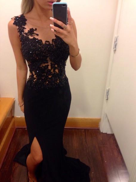 dress prom dress lace dress black dress