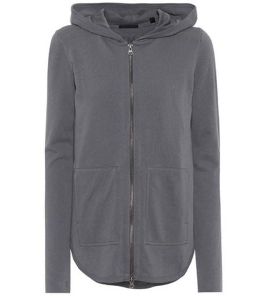 hoodie cotton grey sweater