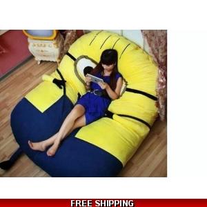 Me huge minion bean bag sofa bed 10 day FREE FAST worldwide shipping