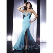 dress,curvy,lace up panoply strapless tulle full skirt long beaded mermaid prom dress,teal,stockings