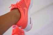shoes,orange,nike,peach,nike free run,women,nike running shoes,nikes,white,sportswear,air max,nike air max thea,nike sneakers,coulurful,nice,style,hot,tennis shoes