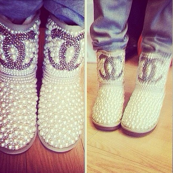 chanel shoes boots beads ugg boots