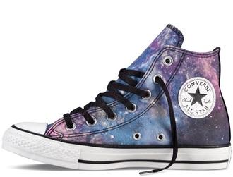 shoes high top converse galaxy converse converse chuck taylor all stars galaxy print galaxy allstars sneakers galaxy sneakers