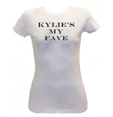 White Kylie's My FAVE Ladies Short Sleeve Tee - Apparel