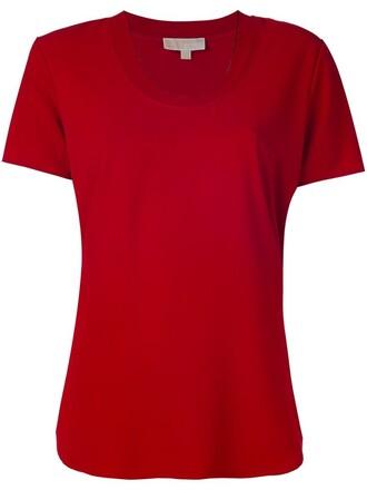 t-shirt shirt women spandex red top