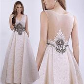 dress,azzure,ivory dress,wedding reception dresses,lace dress,evening dress,prom dress