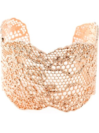 cuff vintage lace metallic jewels