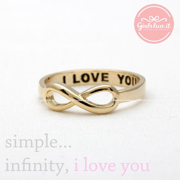 jewels jewelry infinity ring ring i love you ring infinite ring annivesary ring eternity ring promise