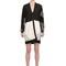 Neoprene & laser cut silk lace jacket