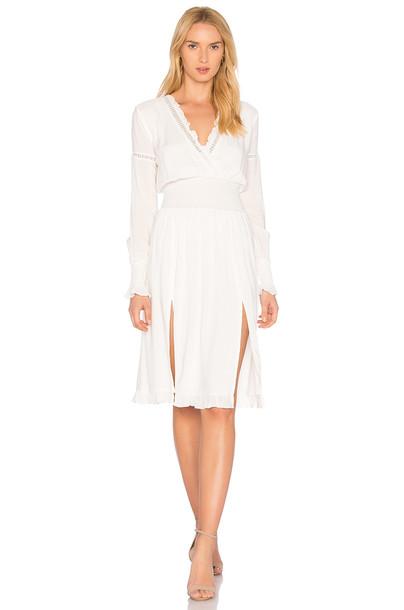 MAJORELLE dress white