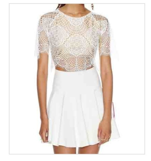 blouse lace crop top