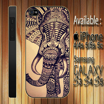 aztec elephant custom design available for iphone 4/4s/5/5s/5c and samsung galaxy S3/S4/S5 case on Wanelo