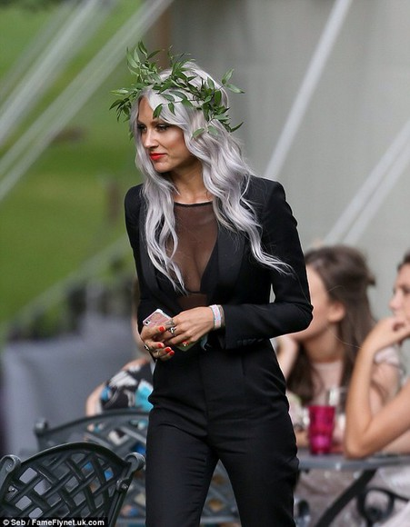 bra jumpsuit lou teasdale one direction blazer