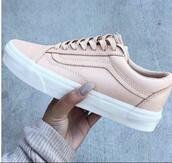 shoes,vans,baby pink,beige,sand