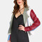 Faux leather colorblock moto jacket vanilla -shein(sheinside)