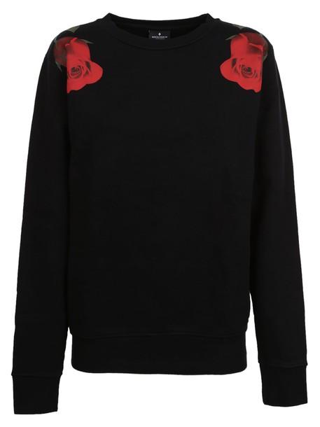 Marcelo Burlon sweatshirt rose print black sweater