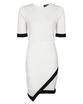 black dress white dress monochrome dress asymmetrical dress black and white black and white dress dress hot cool