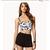 TD64 Celebrity Style Spiked Daisy Floral Print Bustier Crop croset Tank Top | eBay