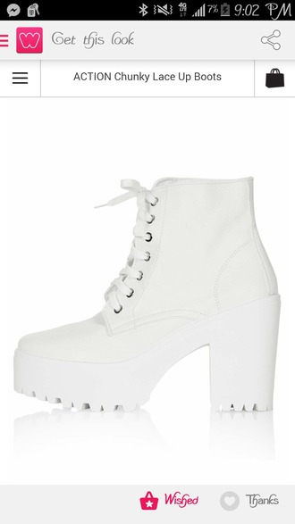 shoes blogger boots platform shoes platform lace up boots white shoes platform boots white platforms sold out topshop