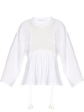 top cotton silk white